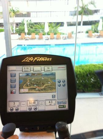 The Westin South Coast Plaza: View from the elliptical
