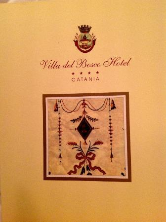 Villa Del Bosco Hotel: Menu Cover