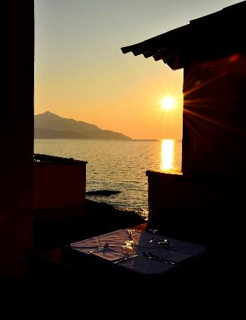 Tramonto dal ristorante da Giacomino