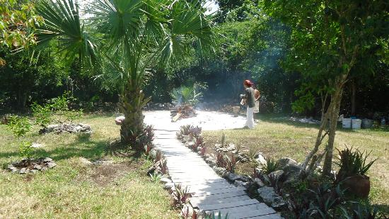 Temazcal - Mayan Steam Lodge: The fire was so hot that I felt brave entering the circle.