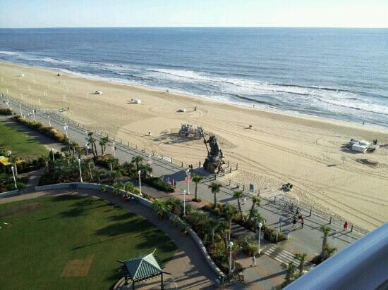 Hilton Virginia Beach Oceanfront: view from 11th floor room 1104