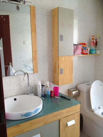 Kaibin Service Apartment Hotel Xi'an Yanta Road: bathroom