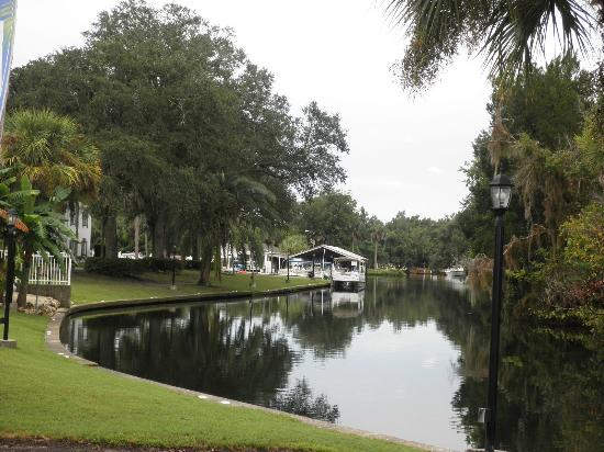 Plantation on Crystal River: Lookin' down the river.