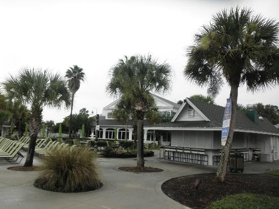 Plantation on Crystal River: The tiki hut......... hoppin' in the afternoon!