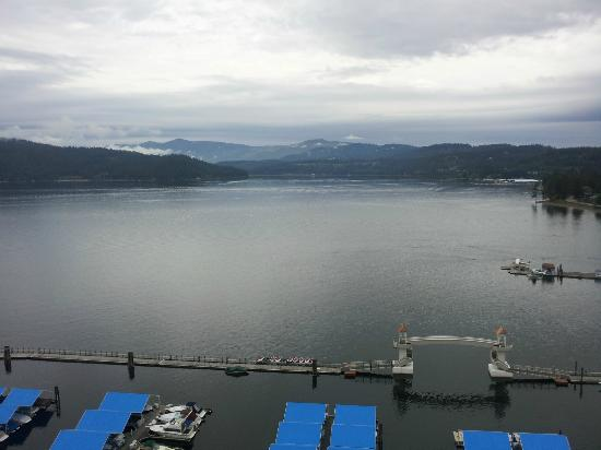 The Coeur d'Alene Resort: Not so sunny day, but still beautiful!