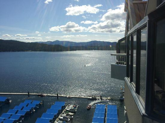 The Coeur d&#39;Alene Resort: View from room