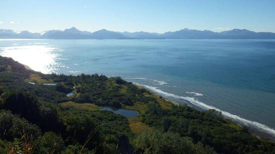 Kenai Peninsula Suites: The view from the roped off upper bluff area