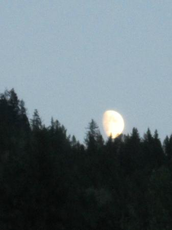 Lumby, Canada: Moon rising over the hils