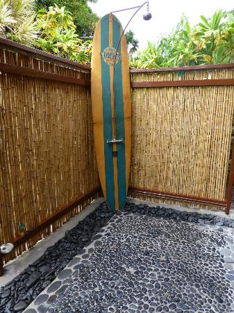 Wendy directed us to the blacksand beach at review of for Outdoor shower floor ideas