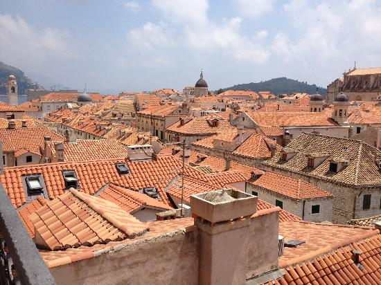 Hotel Stari Grad: view from the roof deck over Dubrovnik old town