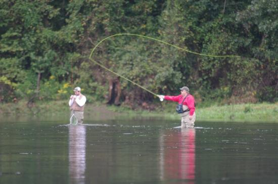 Fly fishing below the dam is a favorite for many for Lake taneycomo fishing