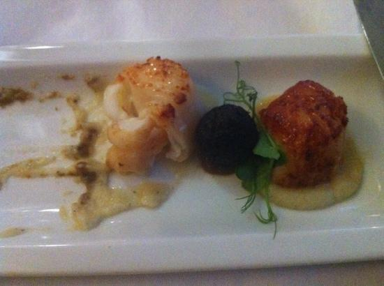 how to cook scallops and black pudding