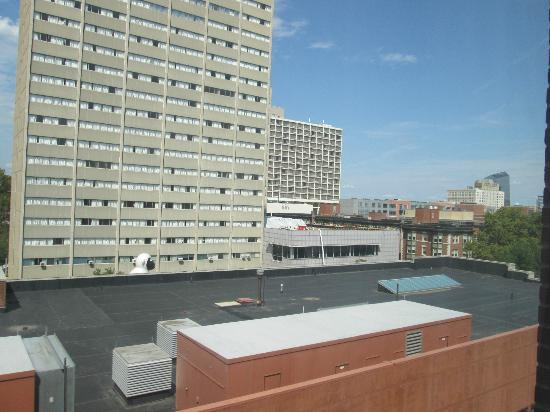 Hilton Inn at Penn: Looking out towards 30th Street station