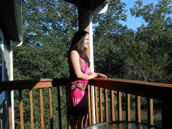 Mountain Laurel Creek Inn & Spa: Enjoying the view from our patio/balcony.