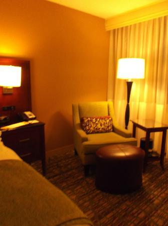 Hanover Marriott: Chair and reading lamp in corner
