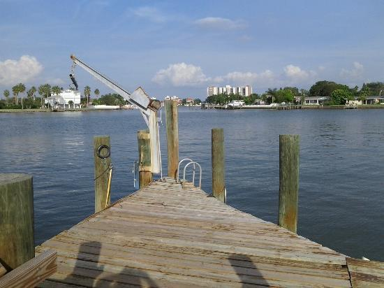 Whispers Resort at Treasure Island: Our morning spot on the dock