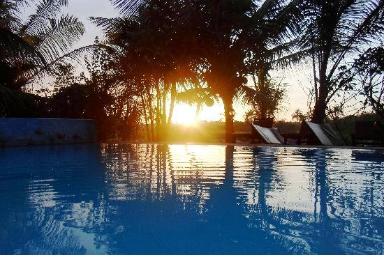 Shangri-Lanka Villa: Sunset in the pool