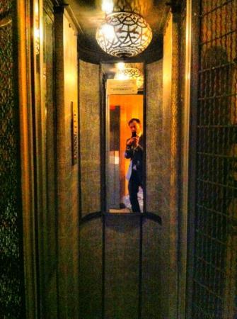 Hotel Mathis Elysees: this has to be one of the smallest lifts in Paris. stylish though!
