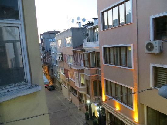 Marti Apartments: view of street from balcony