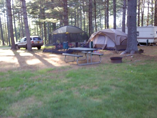 Pleasant River Campground: our campsite