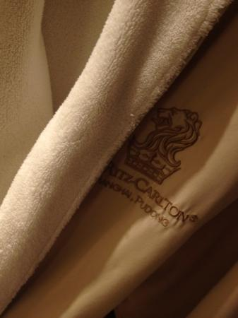 The Ritz-Carlton Shanghai Pudong: so so warm and soft!! i bought it home.