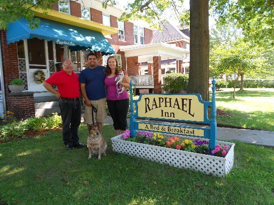 Raphael Inn: us and the owner George