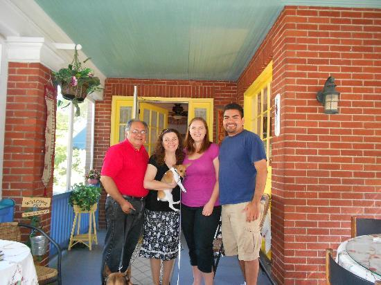 Raphael Inn: us with owners George and Alexandria