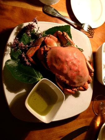 Sooke Harbour House: crab with delicious herbed butter