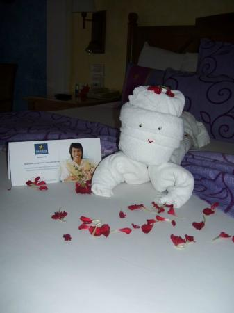 Iberostar Paraiso Lindo: More towel art - loved coming into our room to see what was done