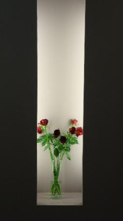 Leonardo Basel Hotel: Flowers to dine by- at entry to dining room