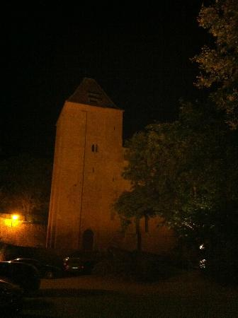 Paunat, Frankreich: The Abbey at night.