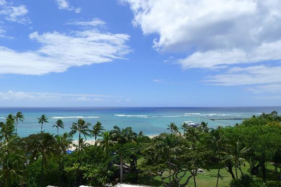 Hale Koa Hotel: View from our room's balcony on the 7th floor