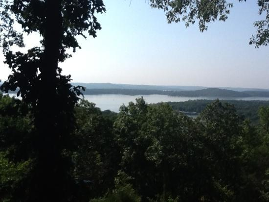 Anchor Inn on the Lake Bed & Breakfast: the view off of our deck at windjammer cabin!