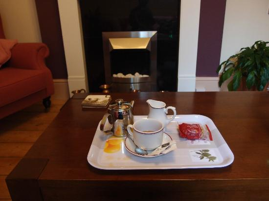 The Firgarth: I arrived 8am in cold rain. Colin quickly served me hot tea in the lounge even though he was so