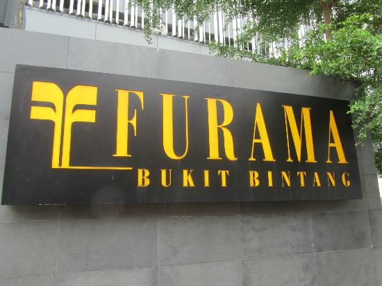 Furama Bukit Bintang: The Sign Outside