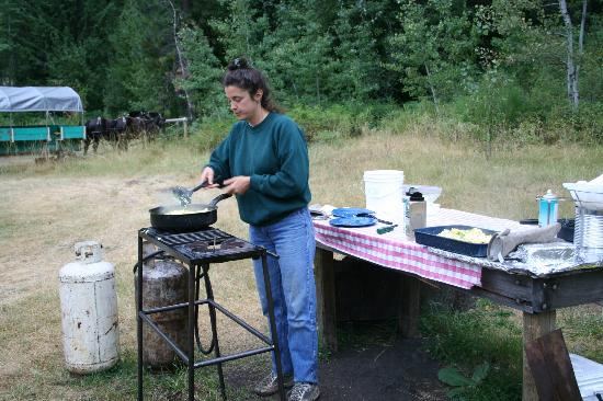 Sun Mountain Lodge: Eggs for trail breakfast
