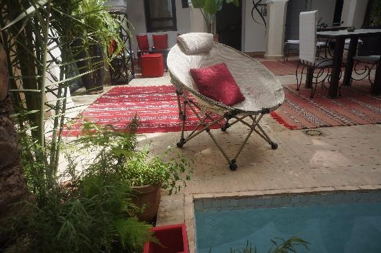 Riad Shanima & Spa: Patio piscine