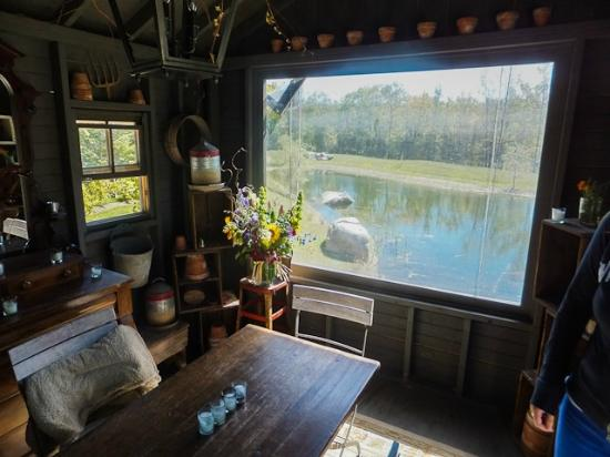 Hidden Pond: The Potting Shed separate dining room