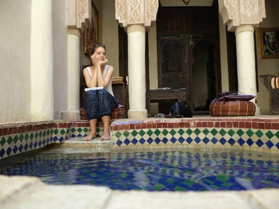 Riad Laksiba: chillin by the plunge pool