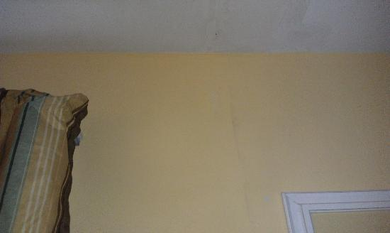 South Palm Suites: ceiling leak in master bedroom