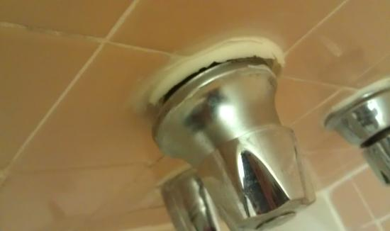Towpath Motel: broken faucet in shower
