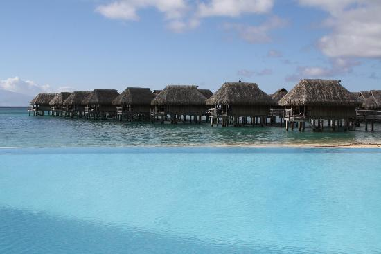 Sofitel Moorea Ia Ora Beach Resort: Pool and overwater bungalows
