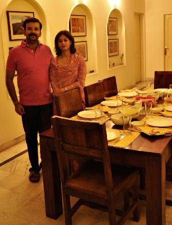 Pratap Bhawan: Hosts Deepti and Himanshu