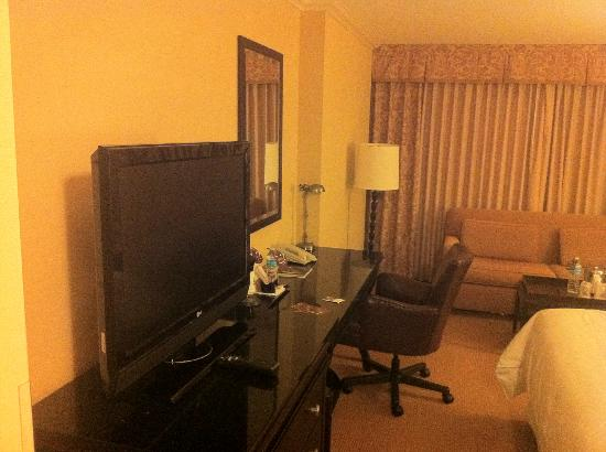 Sheraton DFW Airport Hotel: Desk and TV