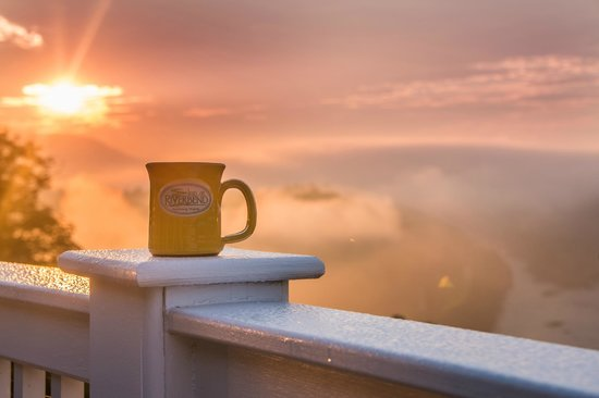 Inn at Riverbend: Riverbend Blend and sunrise - what could be better.