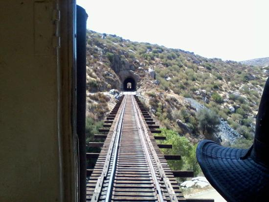 Campo, CA: Trestle before tunnel at Mexican Border