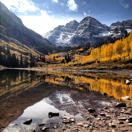 The Residence Hotel: Maroon Bells during our Sept 2012 visit