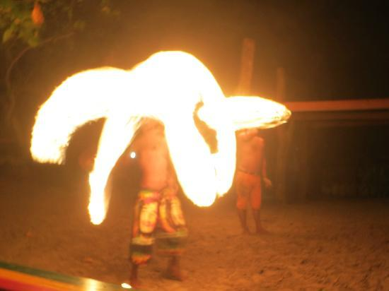 Maya Bay Sleep Aboard: fire show