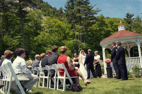 wedding ceremony at gazebo picture of white mountain