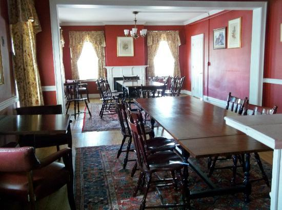 The Stowe Inn: Library and scene of the Murder Mystery game